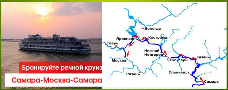 Плавание из Самары в Москву